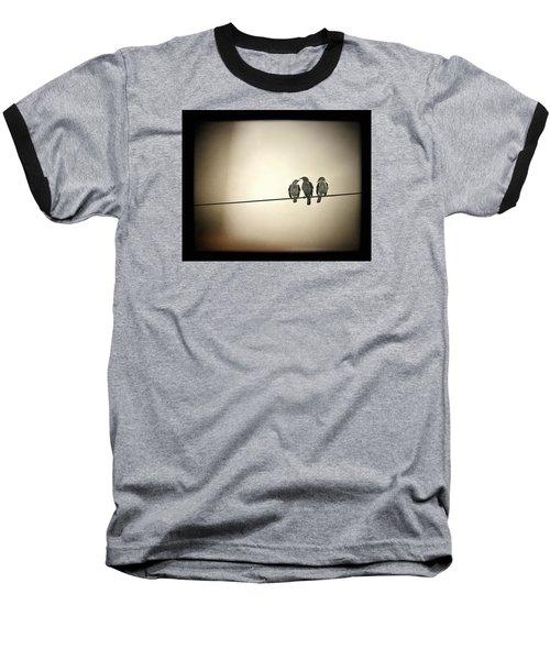 Three Little Birds Baseball T-Shirt by Trish Mistric