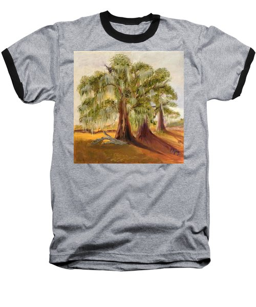Three Live Oaks With Spanish Moss In A Florida Cow Pasture Baseball T-Shirt