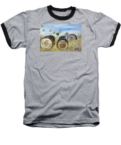 Three Logs Baseball T-Shirt