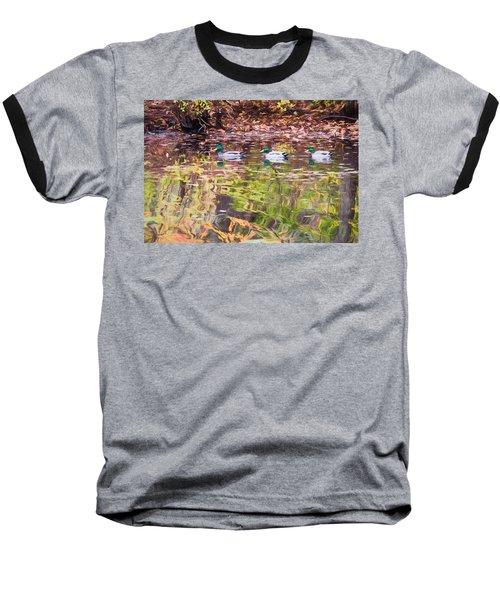 Three Mallards. Baseball T-Shirt