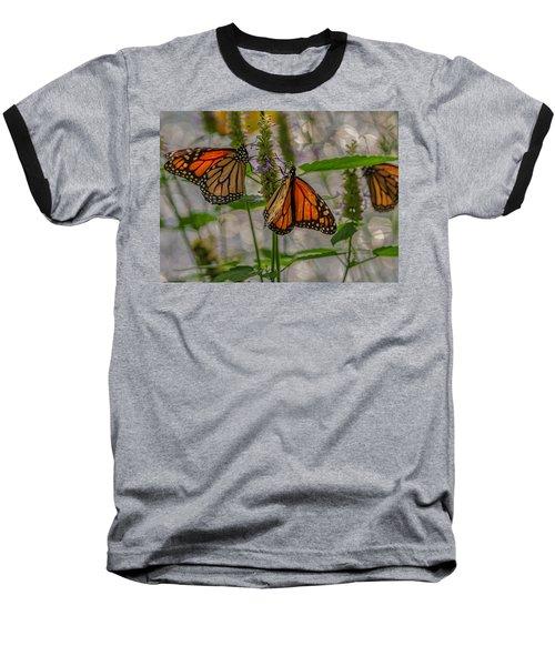 Three Monarch Butterfly Baseball T-Shirt