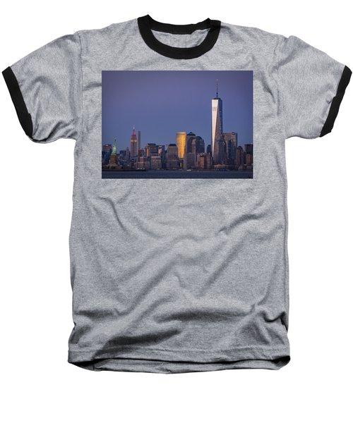 Three New York Symbols Baseball T-Shirt