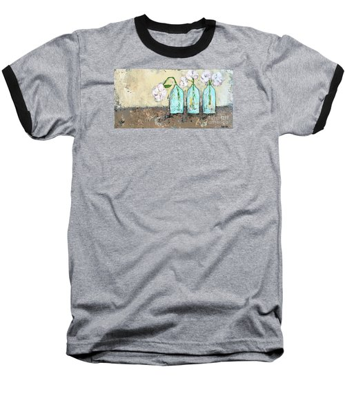 Three Of A Kind Baseball T-Shirt by Kirsten Reed