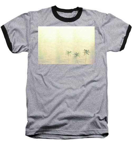 Three Palms In Color Baseball T-Shirt