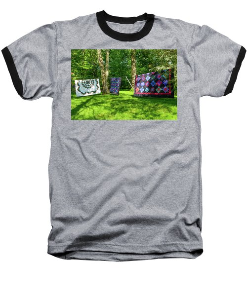 Three Quilts In The Breeze Baseball T-Shirt