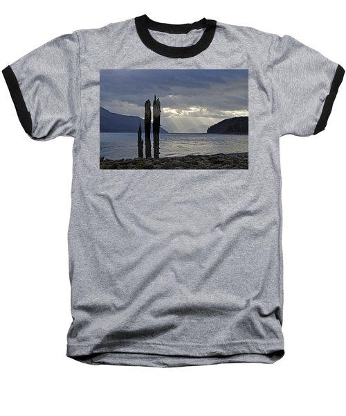 Three Remain Baseball T-Shirt by Cathy Mahnke