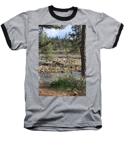 Baseball T-Shirt featuring the photograph Three Rivers In One by Marie Neder