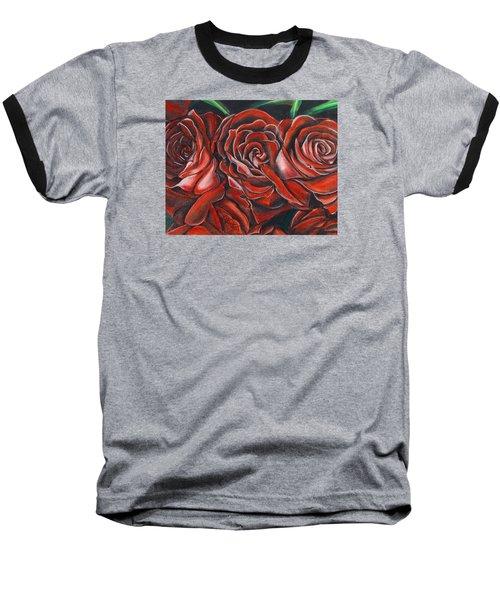 Three Rose Baseball T-Shirt