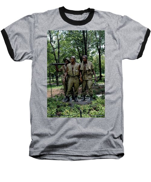 Three Servicemen Baseball T-Shirt