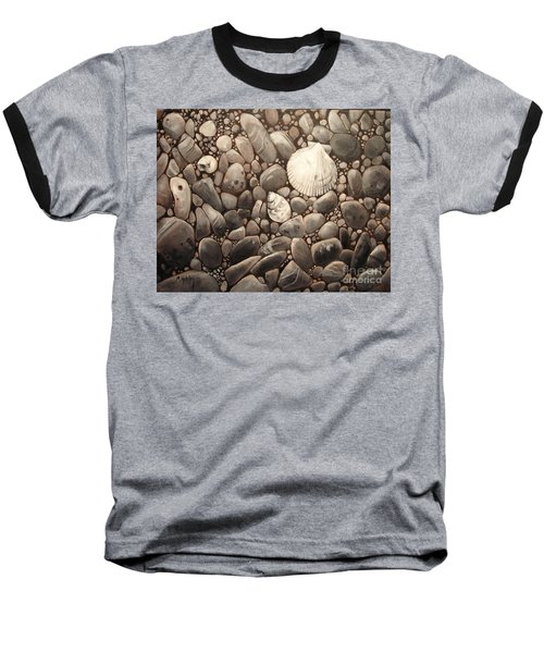 Three Shells Baseball T-Shirt by Mary Hubley