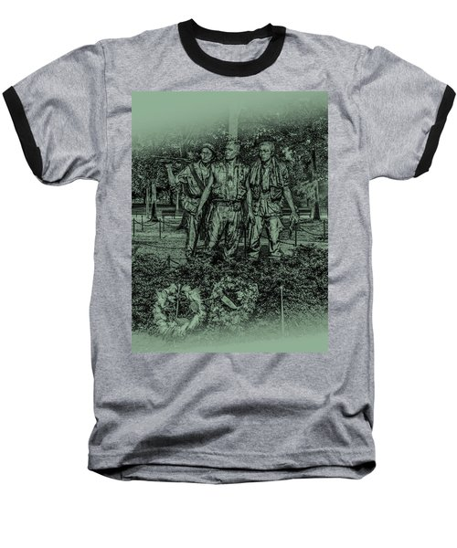 Baseball T-Shirt featuring the photograph Three Soldiers Memorial by David Morefield