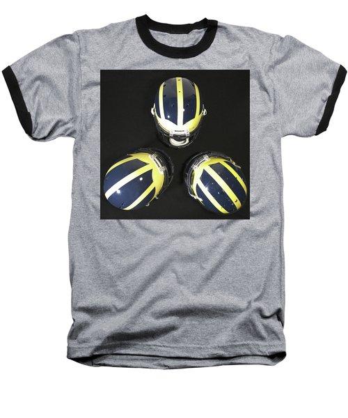 Three Striped Wolverine Helmets Baseball T-Shirt