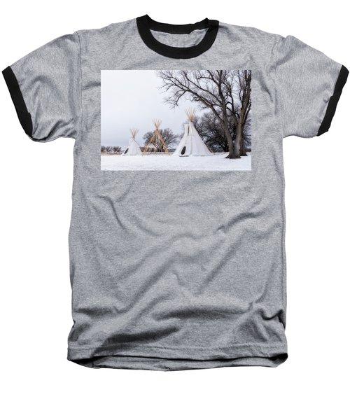 Three Tipis Baseball T-Shirt