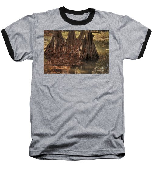 Baseball T-Shirt featuring the photograph Three Trees In Lake Murray by Tamyra Ayles