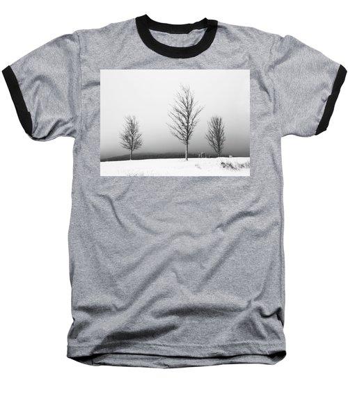 Three Trees In Winter Baseball T-Shirt