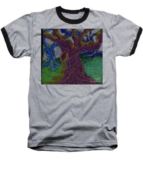 Baseball T-Shirt featuring the drawing Three Trees by Kim Sy Ok
