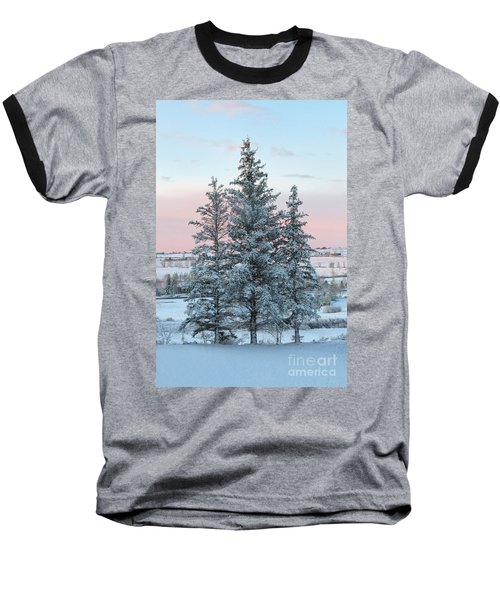 Three Trees Baseball T-Shirt by Ronda Kimbrow