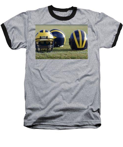 Three Wolverine Helmets Baseball T-Shirt