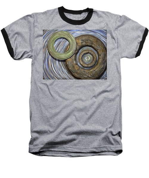 Baseball T-Shirt featuring the painting Threes A Crowd by Jacqueline Athmann