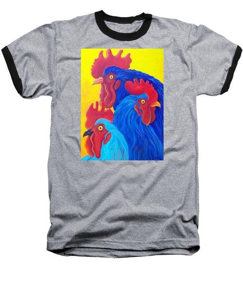 Three's A Crowd Baseball T-Shirt by Susan DeLain