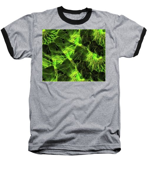 Baseball T-Shirt featuring the digital art Threshed Green by Ron Bissett