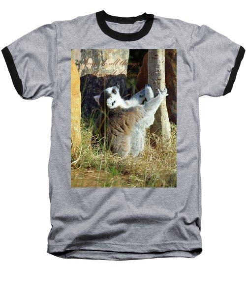 Through Christ Baseball T-Shirt by Inspirational Photo Creations Audrey Woods