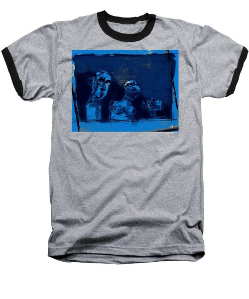 Baseball T-Shirt featuring the painting Through The Blue Window by Jim Vance