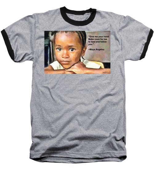 Baseball T-Shirt featuring the painting Through The Eyes Of A Child by Wayne Pascall