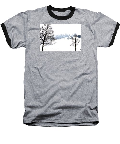 Through The Falling Snow Baseball T-Shirt
