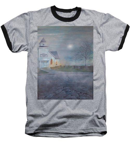 Through The Fog Baseball T-Shirt by T Fry-Green