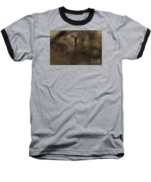 Baseball T-Shirt featuring the photograph Through The Hedge Row  by Gary Bridger