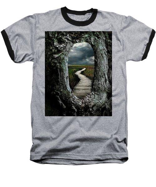 Through The Knot Hole Baseball T-Shirt