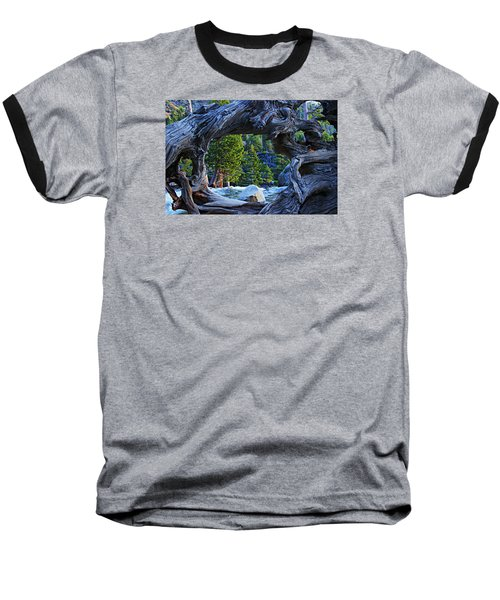 Through The Looking Glass Baseball T-Shirt by Sean Sarsfield