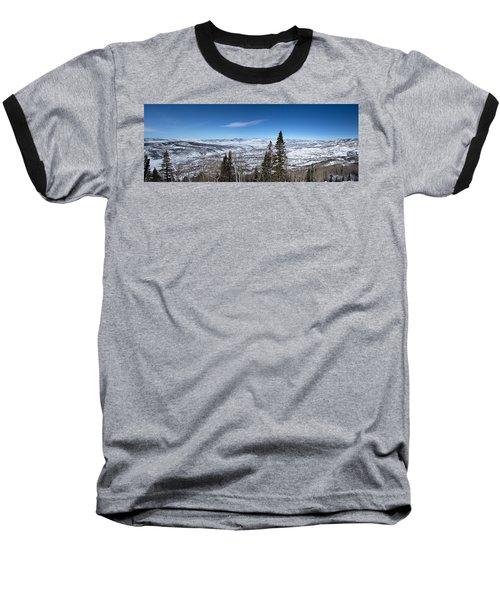 Through The Pines Baseball T-Shirt by Sean Allen