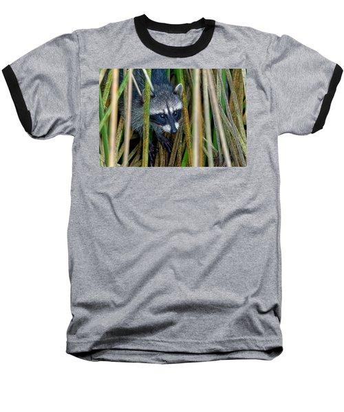 Through The Reeds - Raccoon Baseball T-Shirt