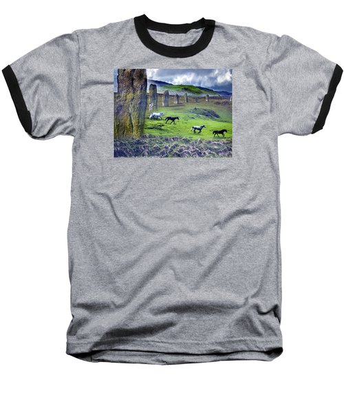 Through The Standing Stones Baseball T-Shirt