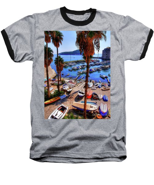 Through The Trees Dubrovnik Harbour Baseball T-Shirt