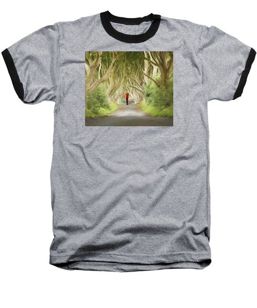 Through The Trees Baseball T-Shirt by Roy  McPeak