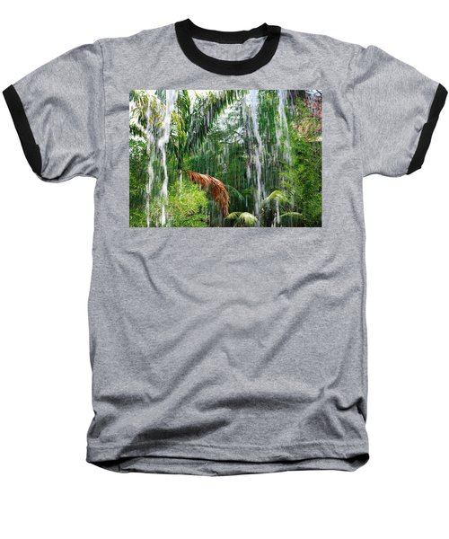 Through The Waterfall Baseball T-Shirt