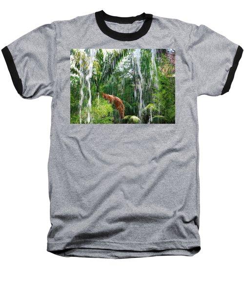 Through The Waterfall Baseball T-Shirt