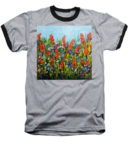 Through The Wild Flowers Baseball T-Shirt