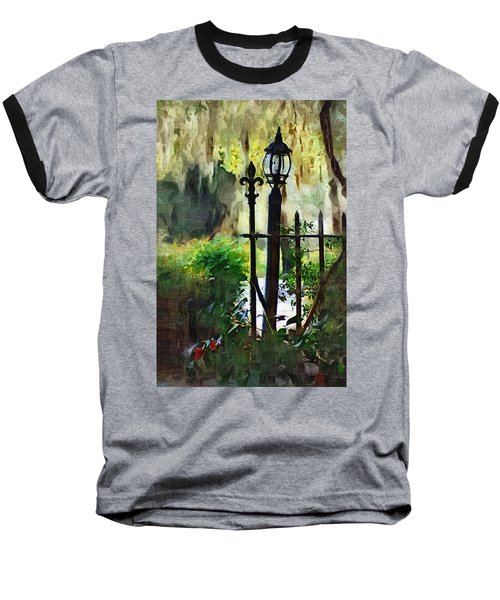 Baseball T-Shirt featuring the digital art Thru The Gate by Donna Bentley