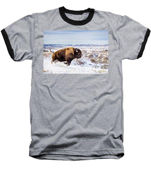 Thunder In The Snow Baseball T-Shirt