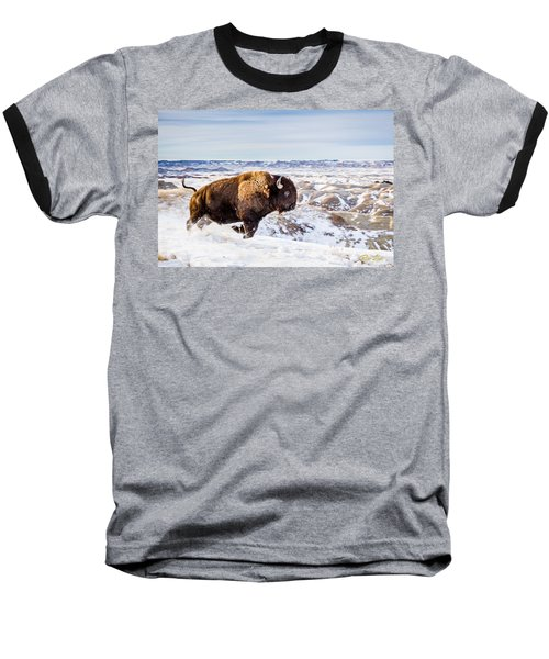 Thunder In The Snow Baseball T-Shirt