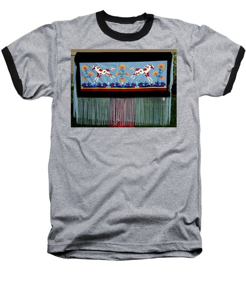 Baseball T-Shirt featuring the tapestry - textile Thunder Pony by Chholing Taha