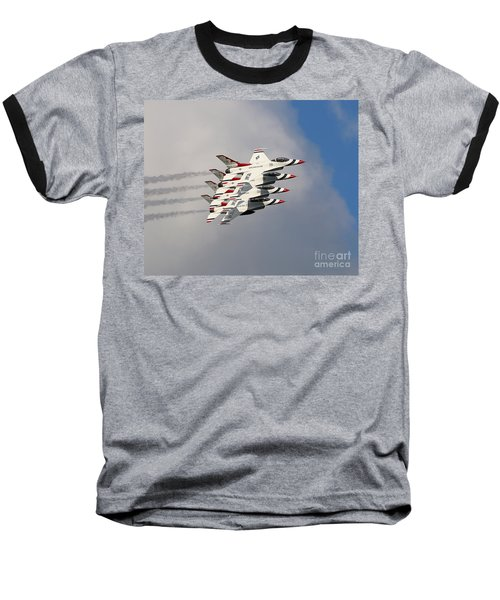 Thunderbirds Stacked Baseball T-Shirt
