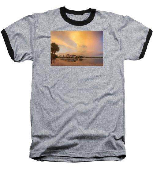 Thunderstorm Over Disney Grand Floridian Resort Baseball T-Shirt