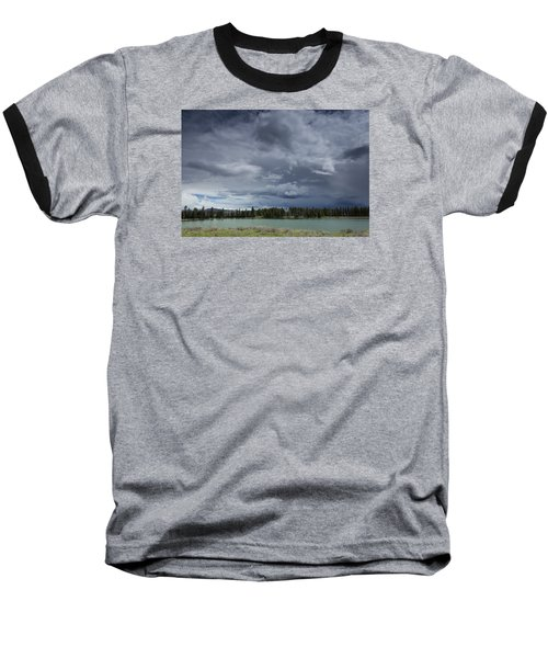 Thunderstorm Over Indian Pond Baseball T-Shirt