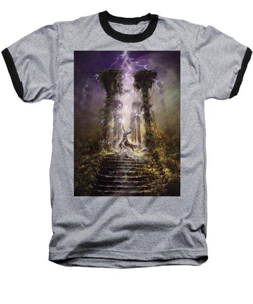 Thunderstorm Wizard Baseball T-Shirt