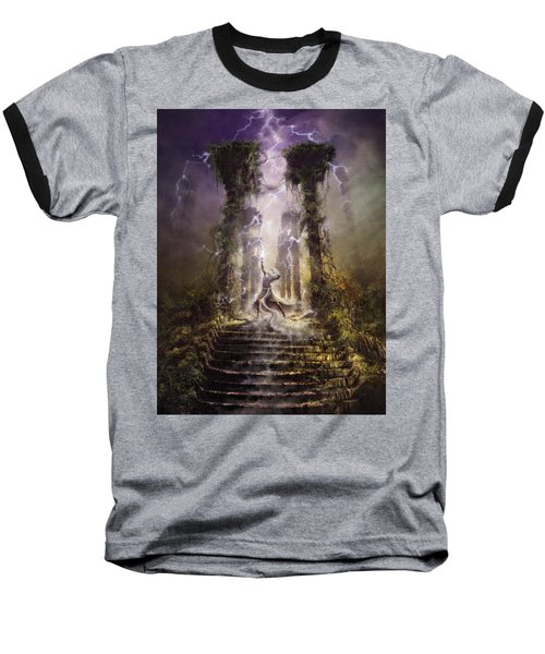 Thunderstorm Wizard Baseball T-Shirt